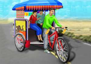 Publick Tricycle Rickshaw Driving