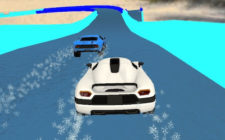 Water slide cars game