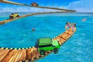 Impossible Jeep Stunt Driving Game