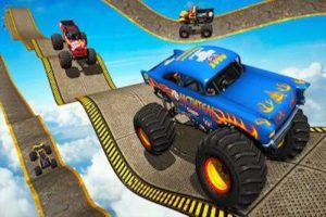 Monster Truck Impossible Track Stunt Game