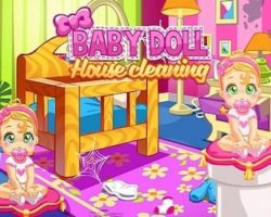 babydoll house cleaning game